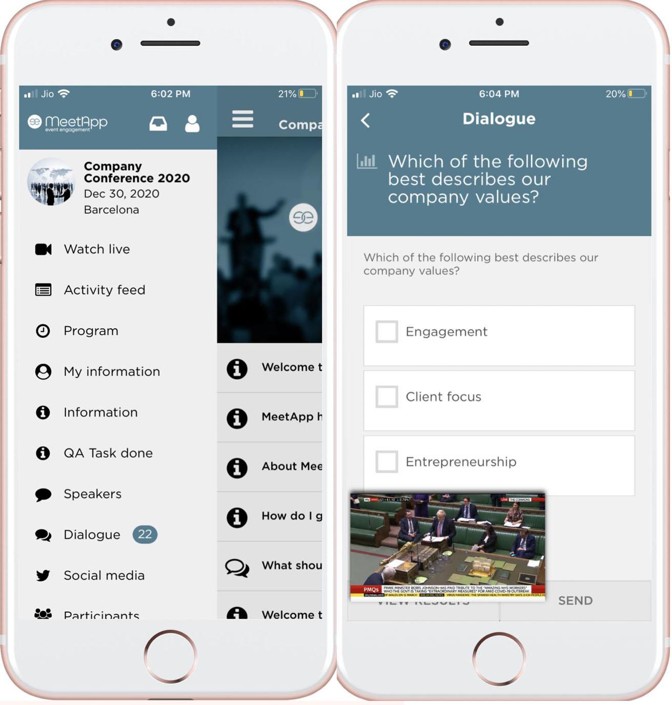 sända live app